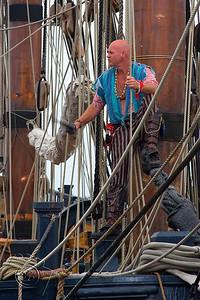 """""""Pirate"""" aboard HMS Surprise"""