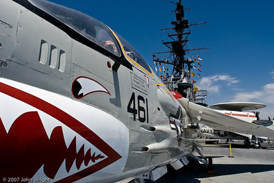 F-8K Crusader and Midway island