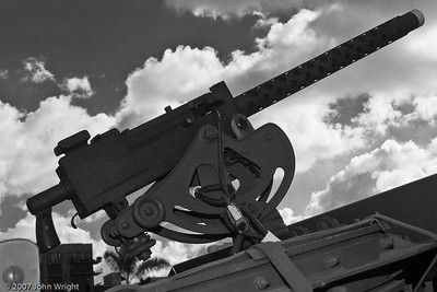 30 caliber air-cooled machine gun