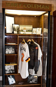 "Jerry Coleman's ""locker"""