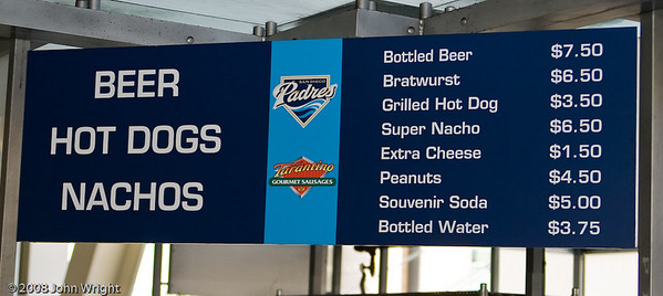 Menu items arranged in order of importance to baseball fans.