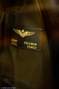 Former manager and broadcaster Jerry Coleman's Marine Corps flight jacket