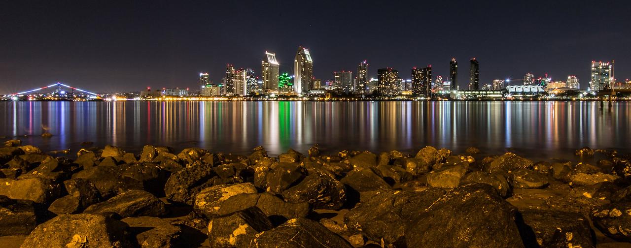 San Diego City Skyline at Night