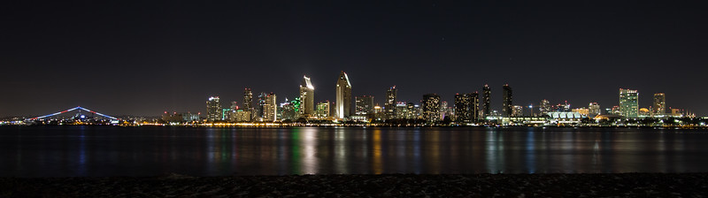 San Diego City Skyline at Nighttime