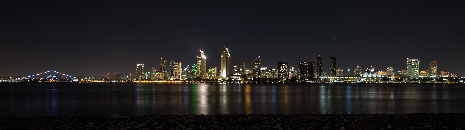 San Diego City Skyline at Nighttime