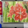 Joline Hazelett won Second Place award for her Ambarella flower painting
