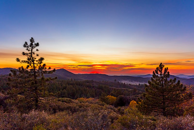 Tonight's sunset seen from Mount Laguna, California