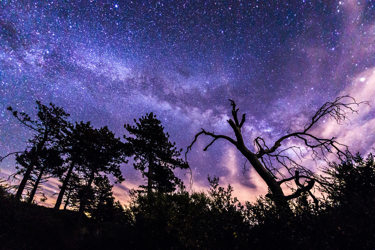 Milky Way over Noble Canyon in Mount Laguna