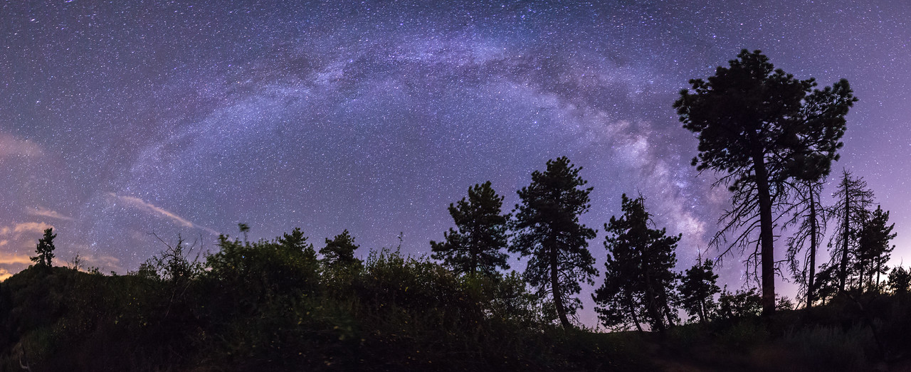 The Milky Way over Noble Canyon in Mount Laguna