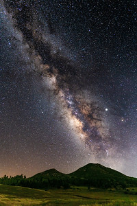 Milky Way, Mountain, and Meadow