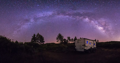 Camping under the Milky Way in Noble Canyon