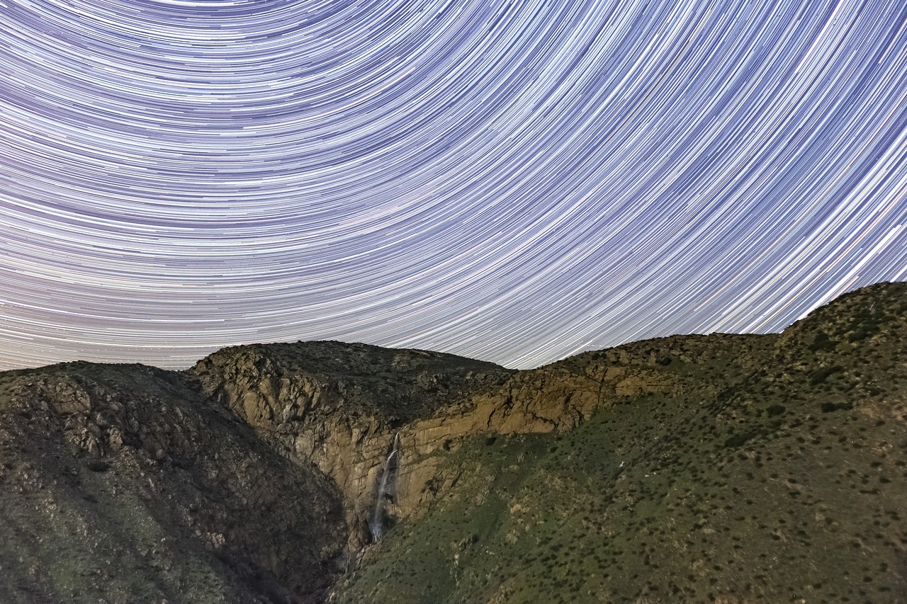 Star Trails and a Waterfall