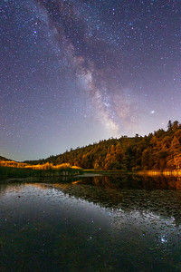 Milky Way Over A Pond In Palomar Mountain State Park