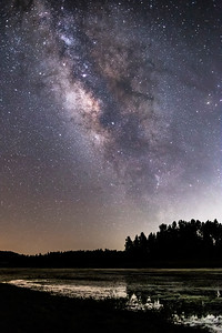 Milky Way Over Big Laguna Lake In Mount Laguna