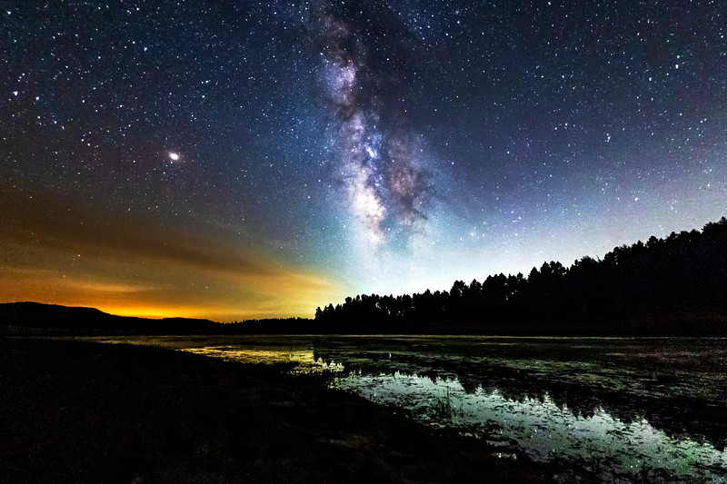 The Milky Way Over Big Laguna Lake In Mount Laguna