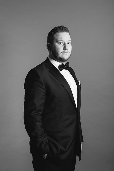 Bass-baritone Nicholas Brownlee sings Figaro in THE MARRIAGE OF FIGARO, October 20, 23, 26, and 28m,  2018. Part of the Main Stage Series.