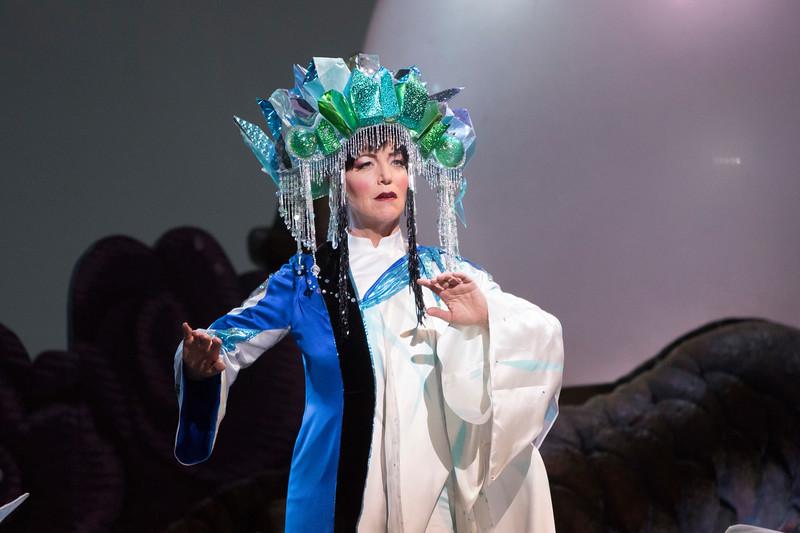 Soprano Lise Lindstrom is Turandot in San Diego Opera's TURANDOT, Feb./March, 2018. Photo by J. Katarzyna Woronowicz Johnson.