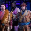 (L-R) Tenor Carl Tanner is Calaf, soprano Angel Joy Blue is Liu, and bass Brian Kontes is Timur in San Diego Opera's TURANDOT, Feb./March, 2018. Photo by J. Katarzyna Woronowicz Johnson.