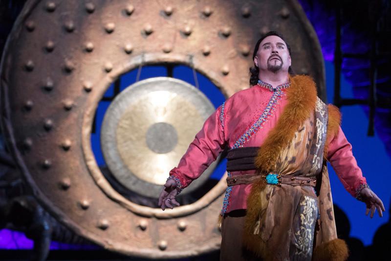 Tenor Carl Tanner is Calaf in San Diego Opera's TURANDOT, Feb./March, 2018. Photo by J. Katarzyna Woronowicz Johnson.
