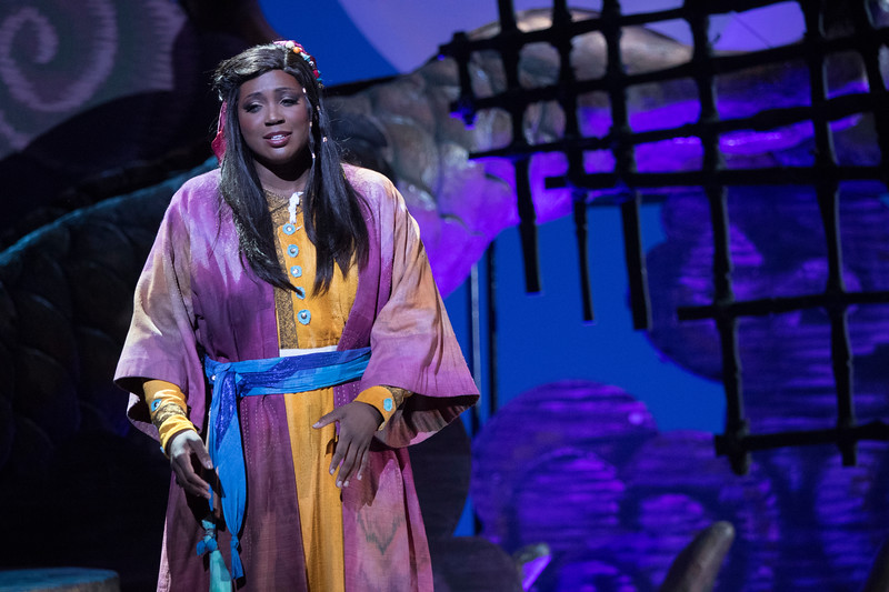 Soprano Angel Joy Blue is Liu in San Diego Opera's TURANDOT, Feb./March, 2018. Photo by J. Katarzyna Woronowicz Johnson.