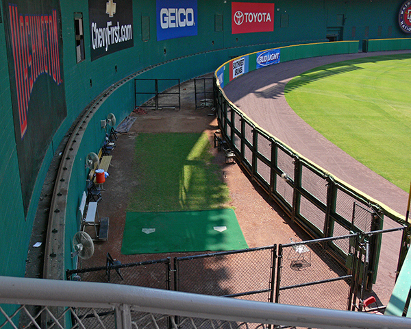 The bullpen at RFK actually looks like somewhere you might pen cattle.