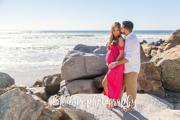 Coronado Beach Maternity Photos by AlohaBug Photography