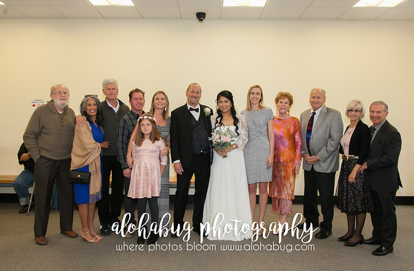 Civil Wedding Photos at The San Diego Courthouse by AlohaBug Photography