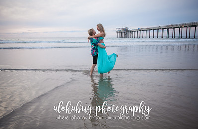 Scripps Pier Beach Engagement Photos by AlohaBug Photography