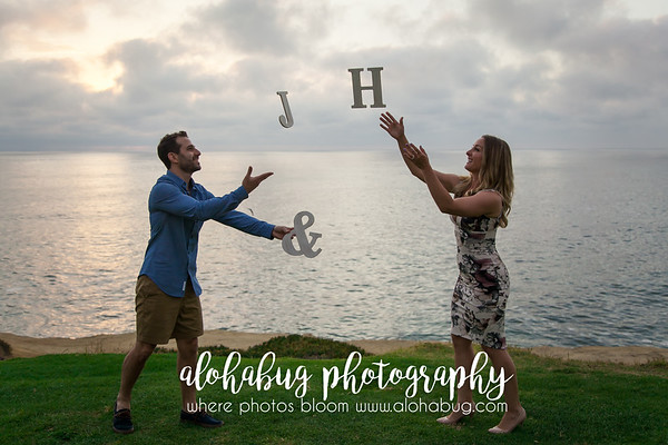 Engagement Photos at Cuvier Park La Jolla by AlohaBug Photography