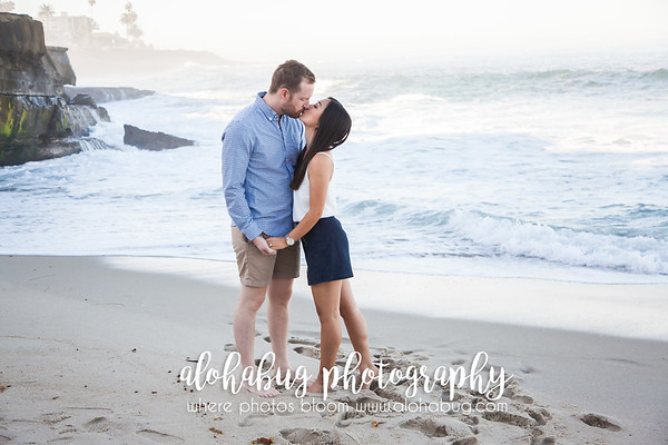 Engagement Photos at La Jolla Cove by AlohaBug Photography
