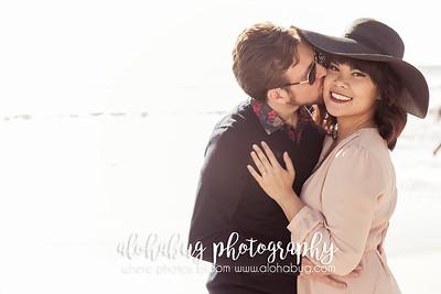 Coronado Beach Engagement Photos by AlohaBug Photography