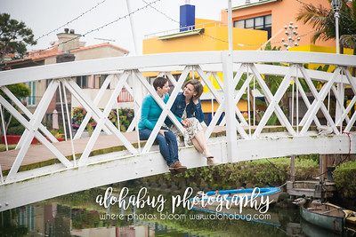 Venice Canals Engagement Photos by AlohaBug Photography