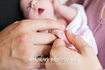 Lifestyle - Newborn Photos by AlohaBug Photography