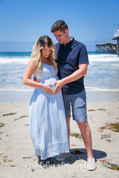 Maternity Photos at Crystal Pier by AlohaBug Photography