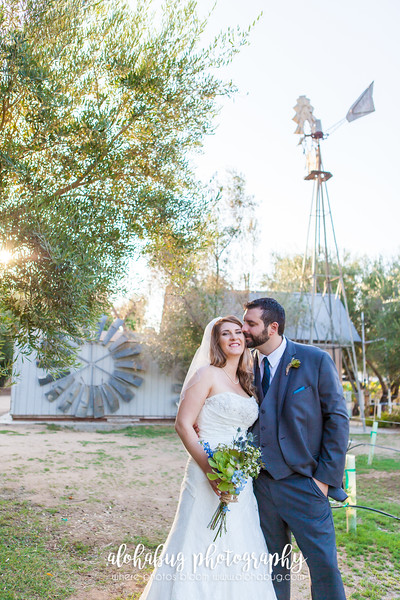 Lindsay & Marc's Wedding Day - Loving the rustic, greenery, background.  But of course, Marc's happiness with Lindsay.