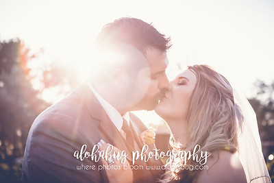Lindsay & Marc's Wedding Day - The perfect sun kiss at the perfect time of day.