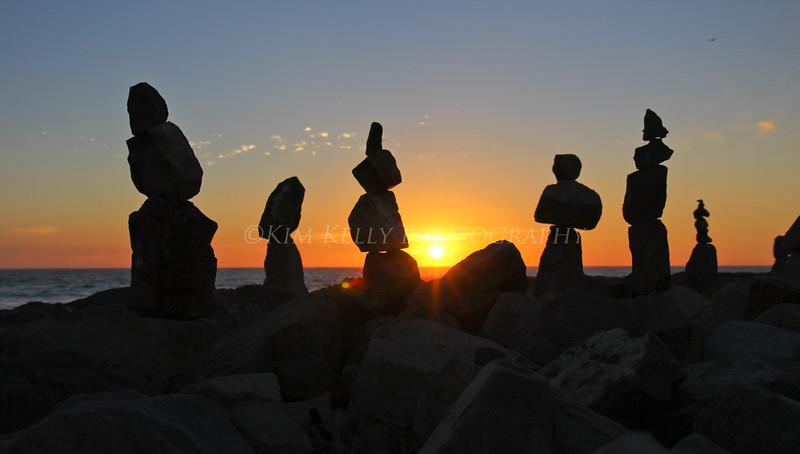 Balance at Sunsset