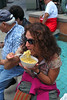Lady Eating Pasta Sicilian Festival 2011