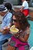 Lady Eating Pasta Sicilian Festival 2011