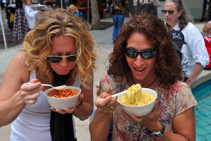 Enjoying Pasta, San Diego Sicilian Festival 2011