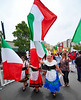 Procession 2011 Billowing Italian Flags