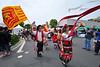 Procession 2011 Flags, Tarantella Dancer