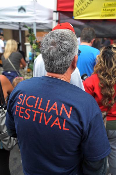 Sicilian Festival T-Shirt Back, Sicilian Festival 2011