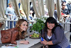 Giada Posing with Fan at Book Signing
