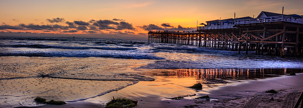 Crystal Pier at Sunset - March 25, 2017