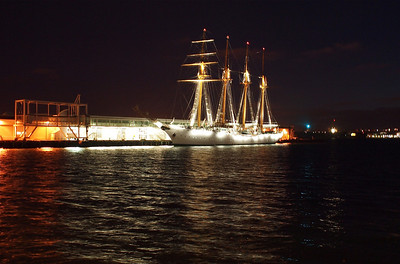 The Chilean Navy's Tall Ship Esmeralda in San Diego Bay, July 2011.