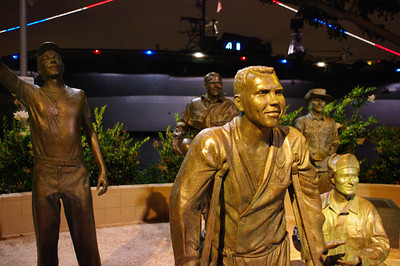 Portion of the Bob Hope Memorial, next to the Fish Market Restaurant.