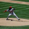 Cincinnati  Reds pitcher Johhny Cueto, who gave up three runs in the first inning.