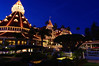 Holiday lights at the Hotel del Coronado.