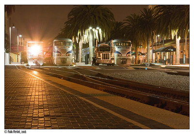 Night Train at the Santa Fe Depot. San Diego, Calif.
